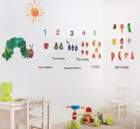 the very hungry caterpillar nursery and playroom wall sticker décor