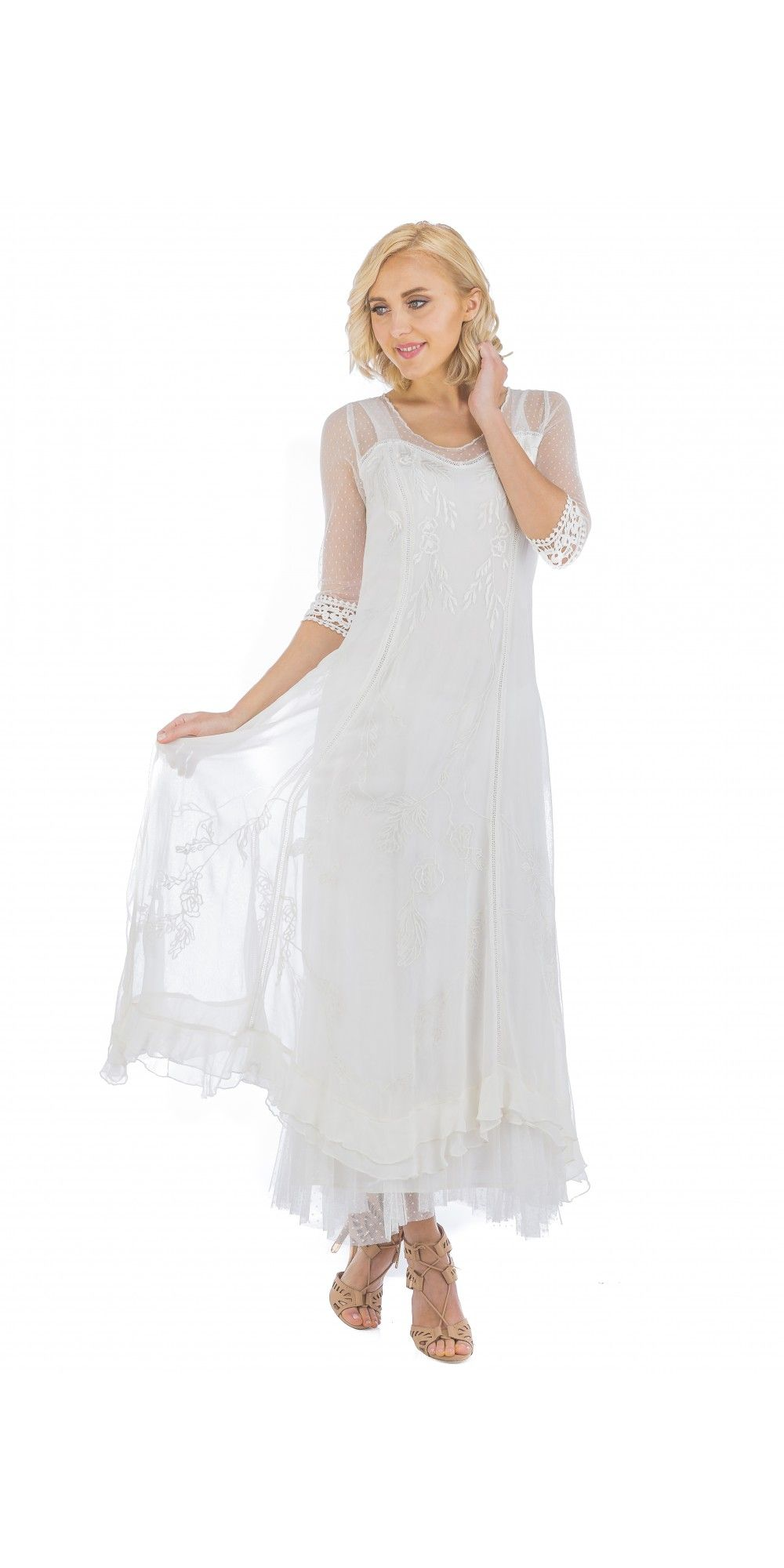 Celine Vintage Style Wedding Gown In Ivory By Nataya Romantic