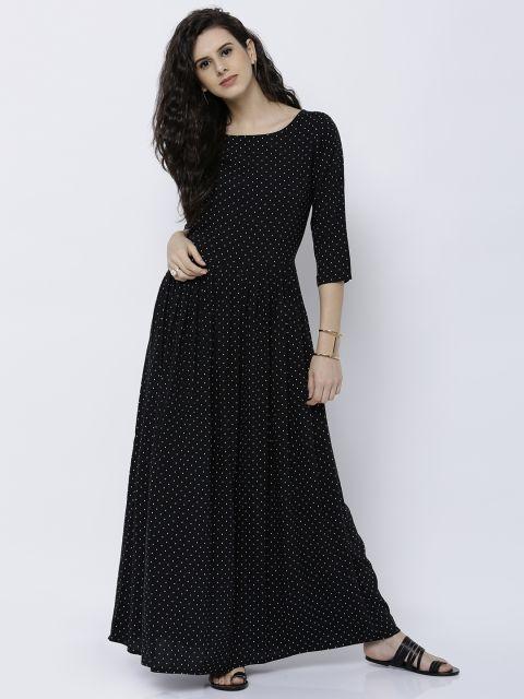 522824c63b Buy Tokyo Talkies Women Black Printed Maxi Dress - - Apparel for Women from  Tokyo Talkies