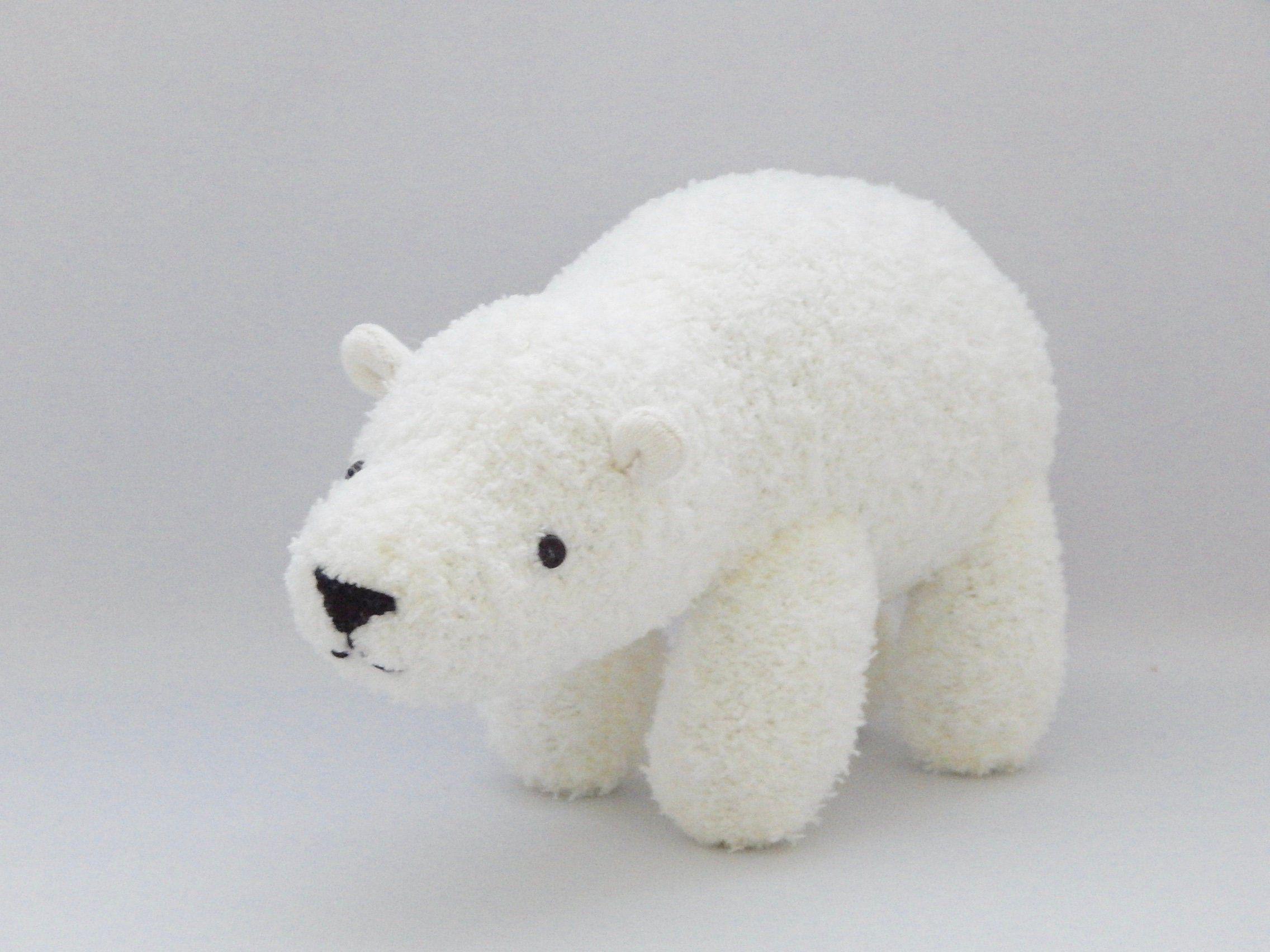 Polar Bear Plush Toy, White Bear Stuffed Animal, Plushie, Sock Monkey