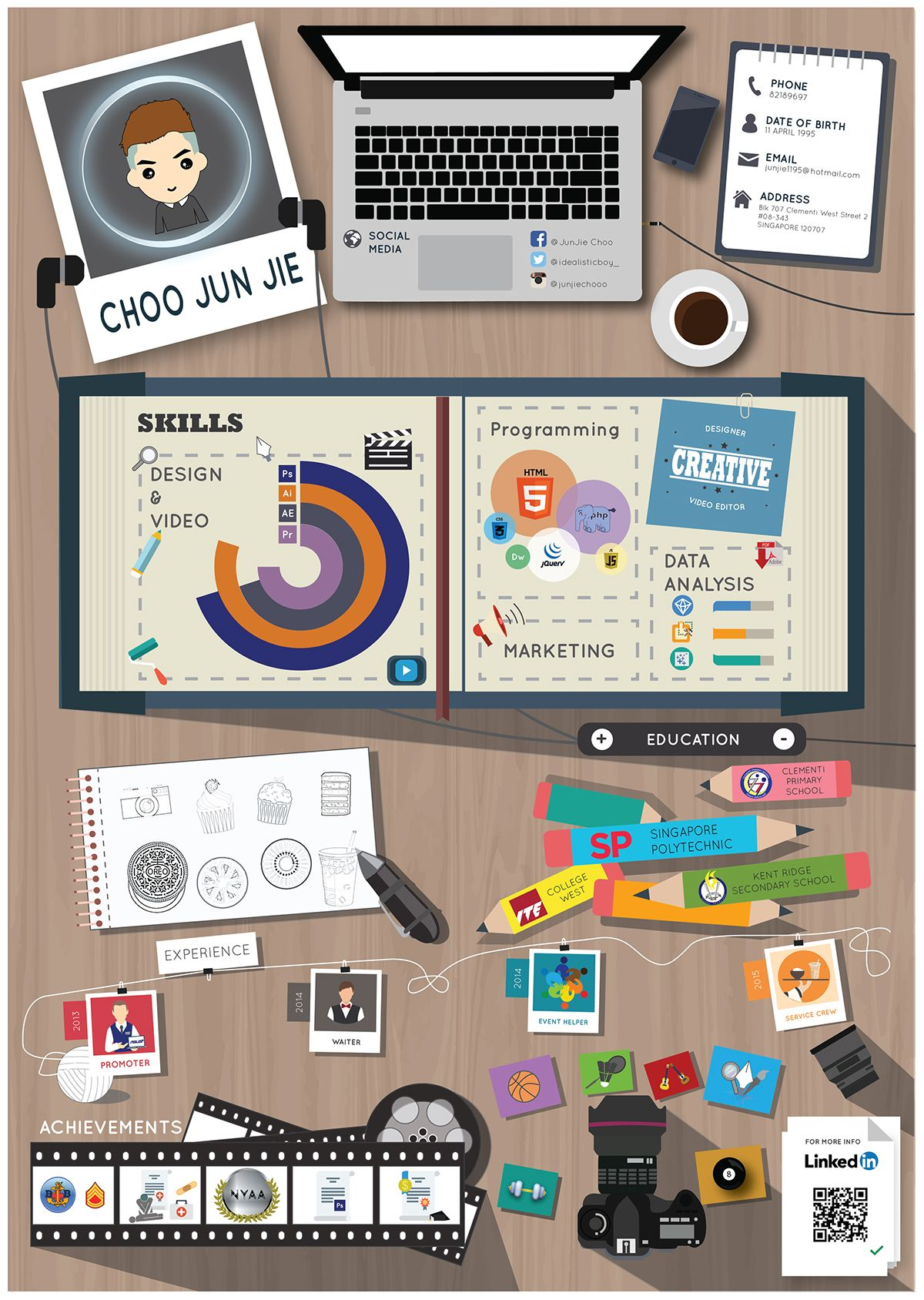 infographic resume on behance  with images