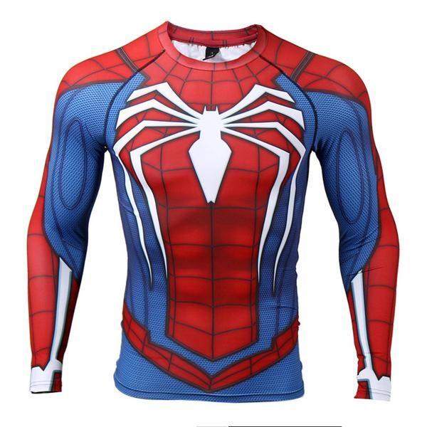 c6d3356b SPIDERMAN Shirt PS4   marvel   Bodybuilding clothing, Crossfit ...