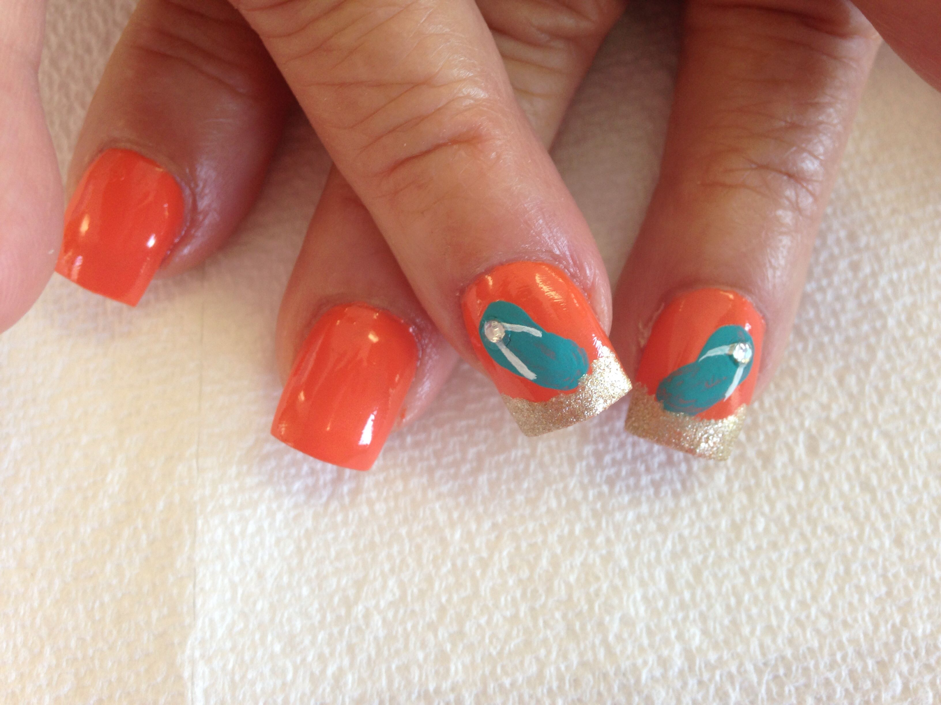 Flip Flop Nail Art For Summer Nail Art By Me Pinterest Flip