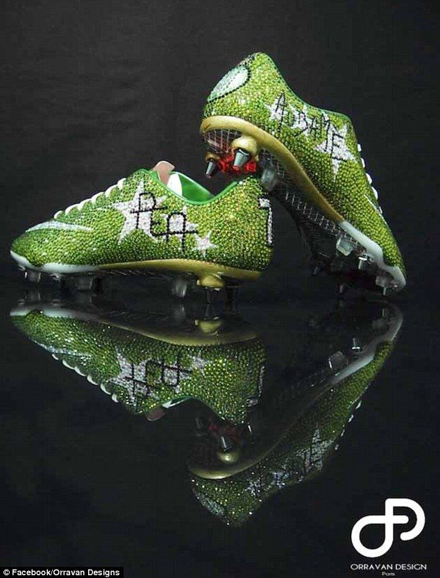 Swarovski Crystal Studded Football Boots For Pierre Emerick