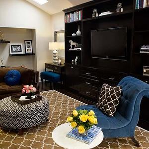 Turquoise La Living Rooms Pottery Barn Brown Moorish Tile Rug Blue Chair