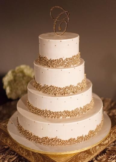 Sparkling Gold Pearl Cake Photo By John Christopher
