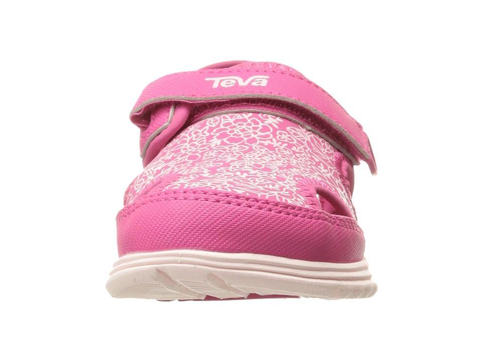 8bc59024b Teva Kids Tidepool Sport (Toddler) Girls Shoes Pink White Print ...