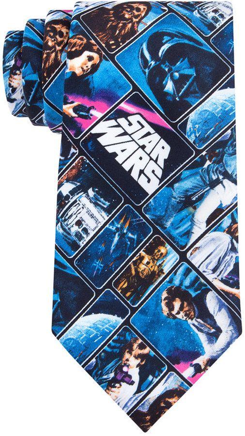 Star Wars Men's Vintage Poster Tie https://api.shopstyle.com/action/apiVisitRetailer?id=600332427&pid=uid8100-34415590-43