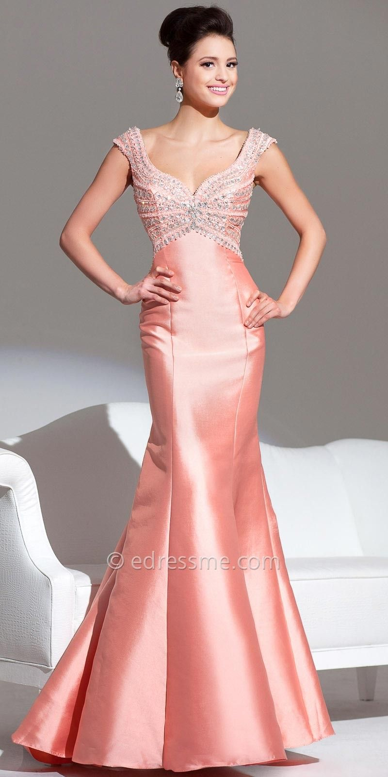 Radial Mikado Prom Gown by Tony Bowls Le Gala | All things Peachy ...