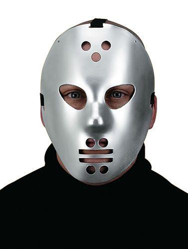 Jason Hockey Goalie Halloween Costume Mask Adult silver