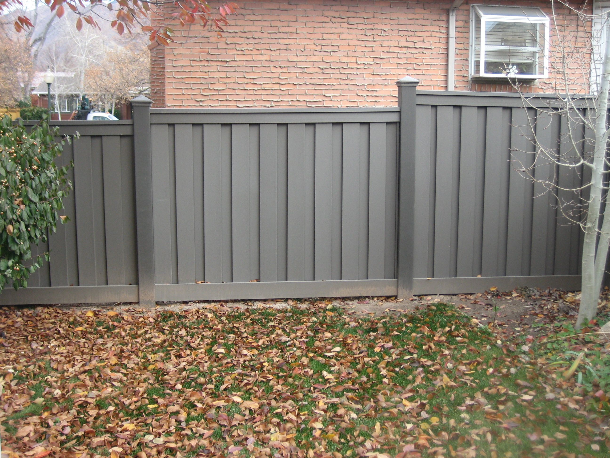 Privacy fencing to keep your dogs in the yard! Change up ...