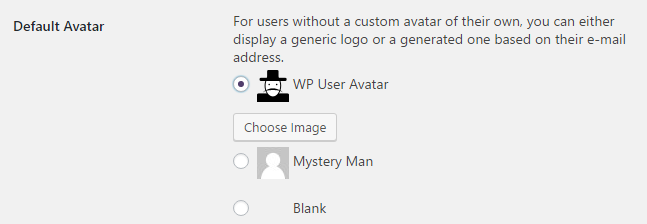 user avatars wordpress