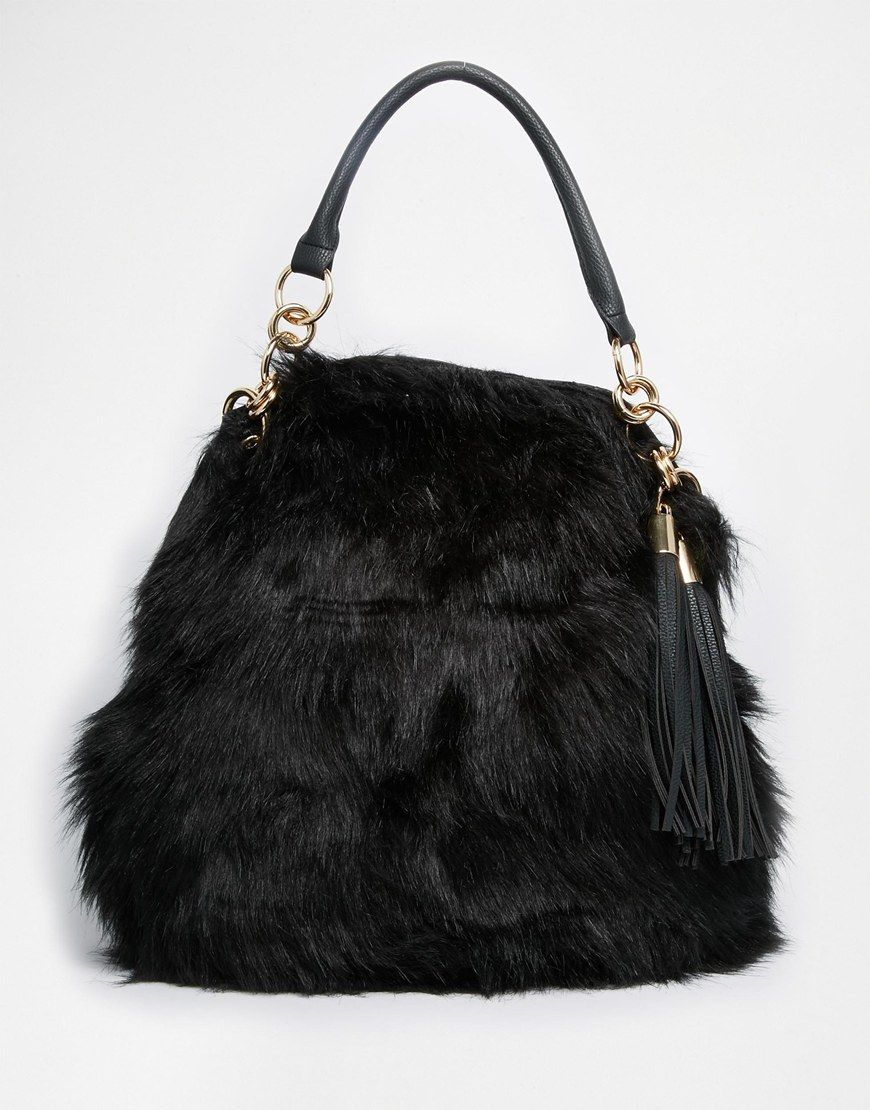 River Island Fur Slouch Bag  631e1c6c2a656