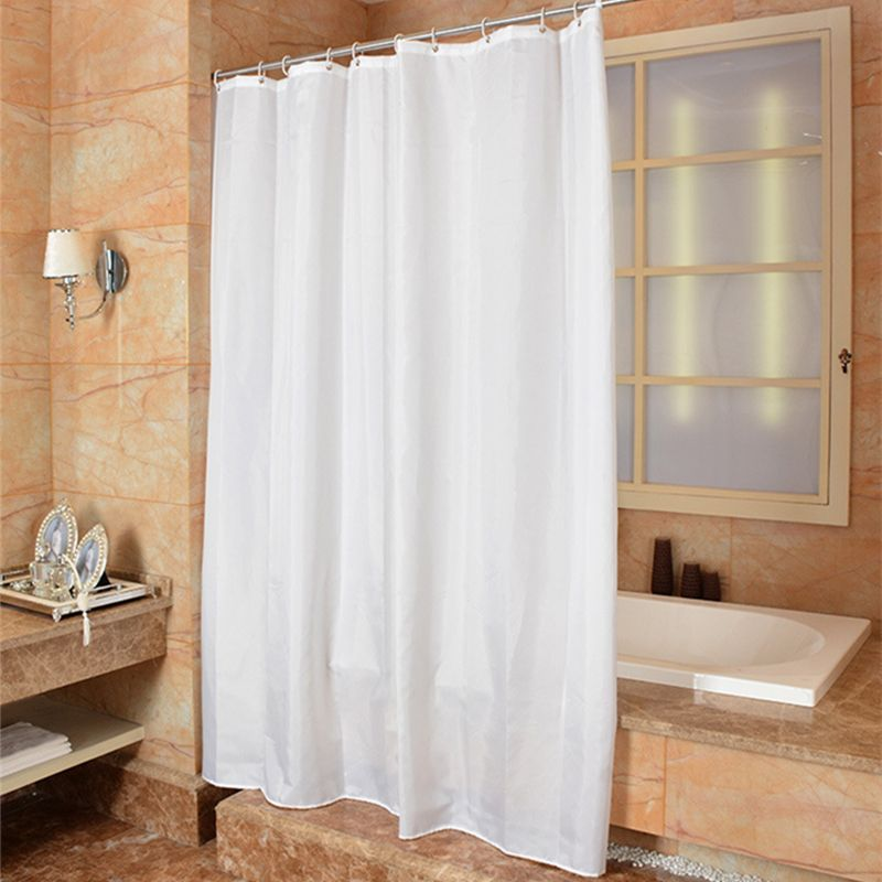 Shower Curtain Modern High Grade Polyester Solid Color Fabric