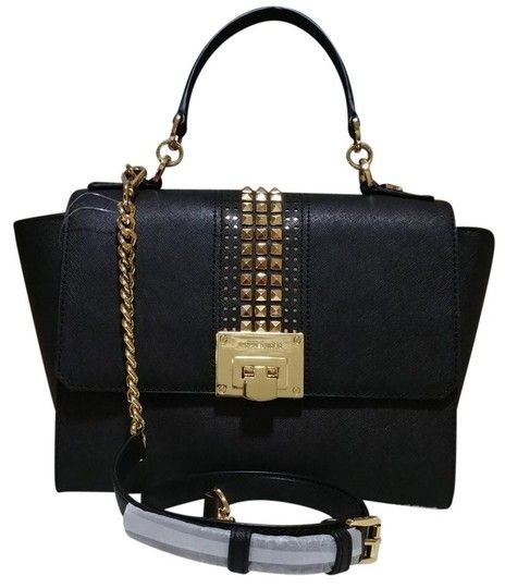 b76c6889a65c Save 56% on the Michael Kors Tina Medium Studded Black Leather Satchel!  This satchel is a top 10 member favorite on Tradesy. See how much you can  save