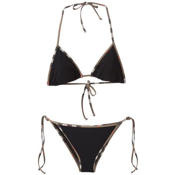 black burberry bikini