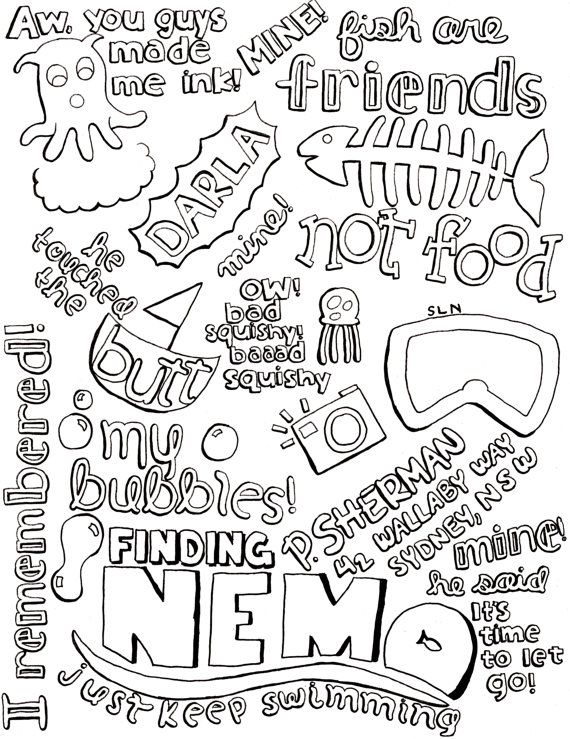 Pin By Delfi On Funny Stuff Inspirational Quotes Coloring Nemo Quotes Disney Quotes