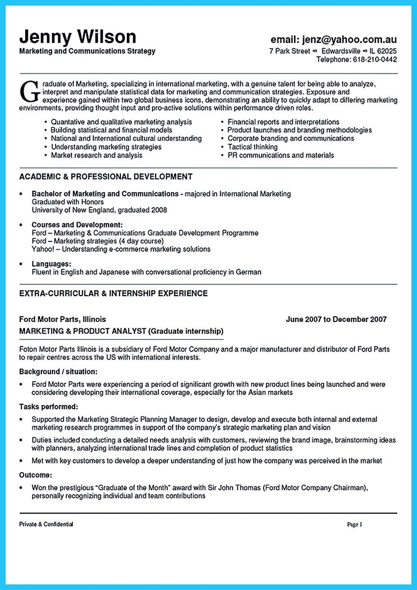 Marketing Professional Skills For Resume