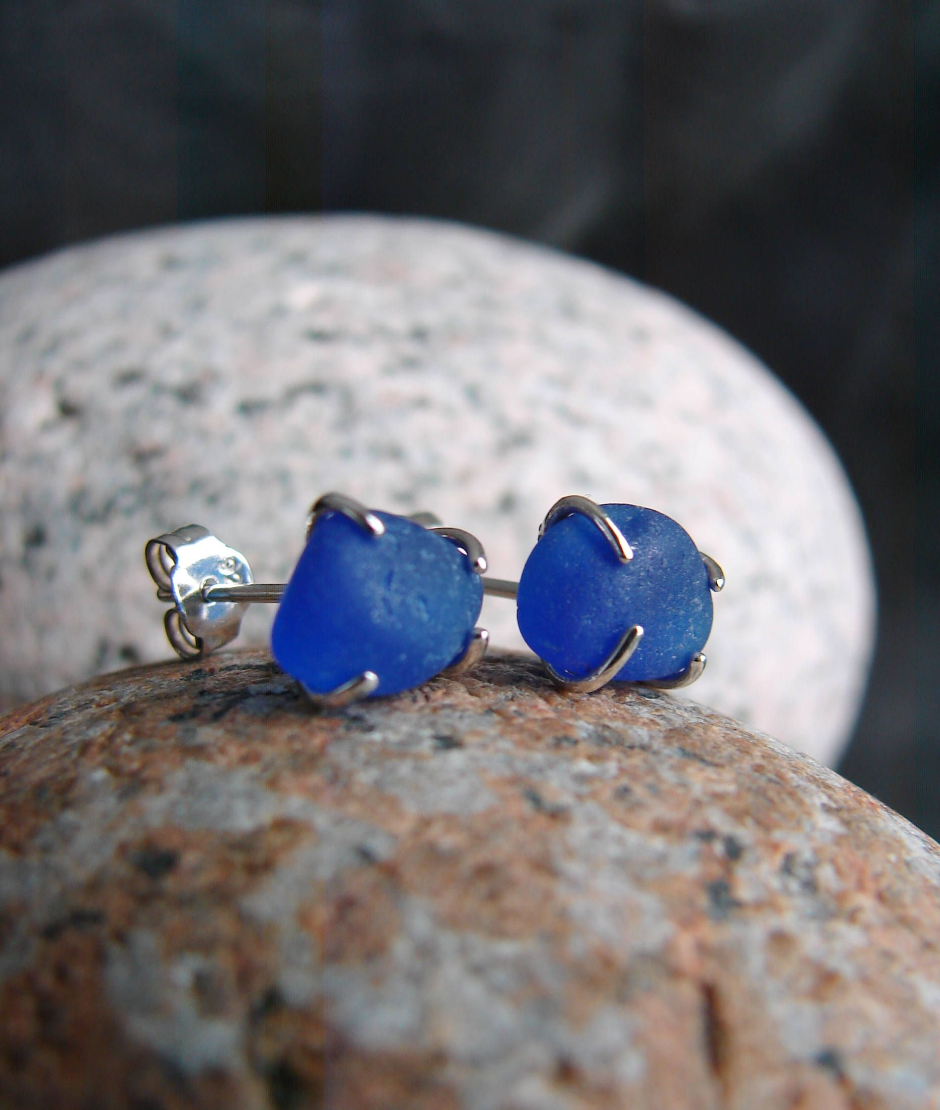 glass fullxfull stud gift steel il blue c for her surgical earrings periwinkle