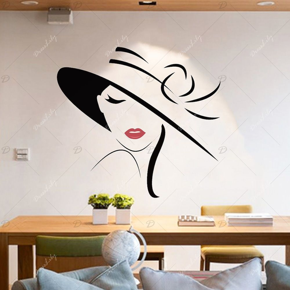 Girl Vinyl Wall Art Sticker For Bedroom Wall Painting Decor
