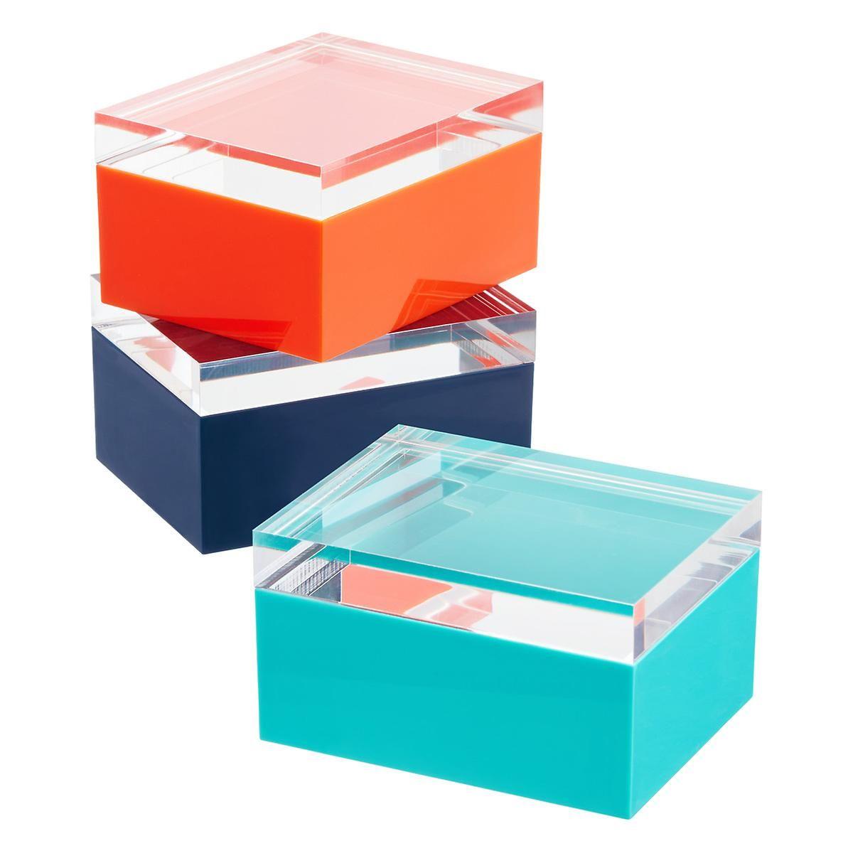 Acrylic lid boxes acrylic box plastic box storage gift