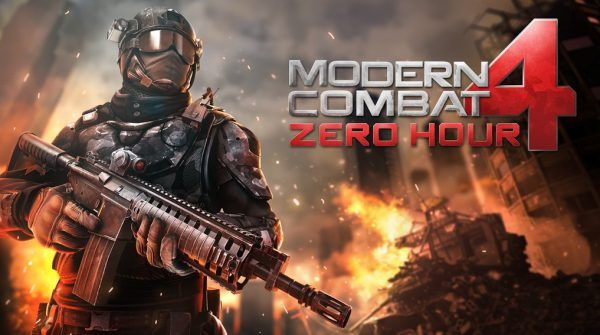 Modern Combat 4 Zero Hour Android Apk Mod Data Game Download Fps Games Combat First Person Shooter