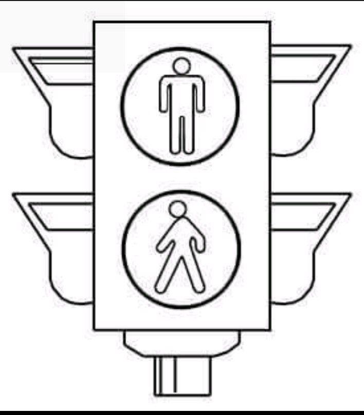 картинки дорожных знаков для распечатки светофор
