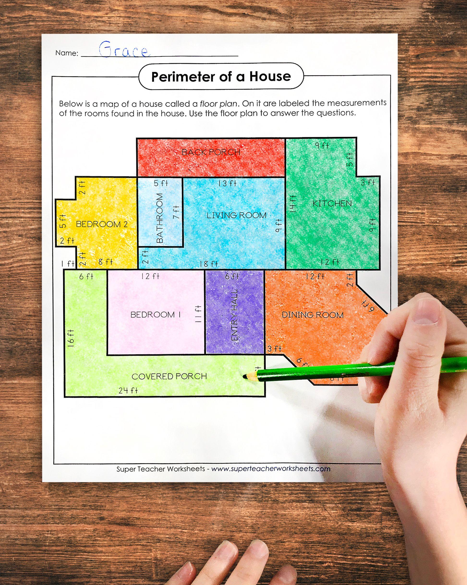 Perimeter Practice Worksheets Touch Math Perimeter Worksheets Math Tutor
