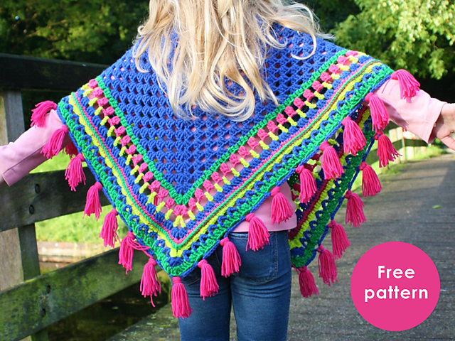 Ravelry: Kids Poncho pattern by Yarnplaza.com - For knitting and ...
