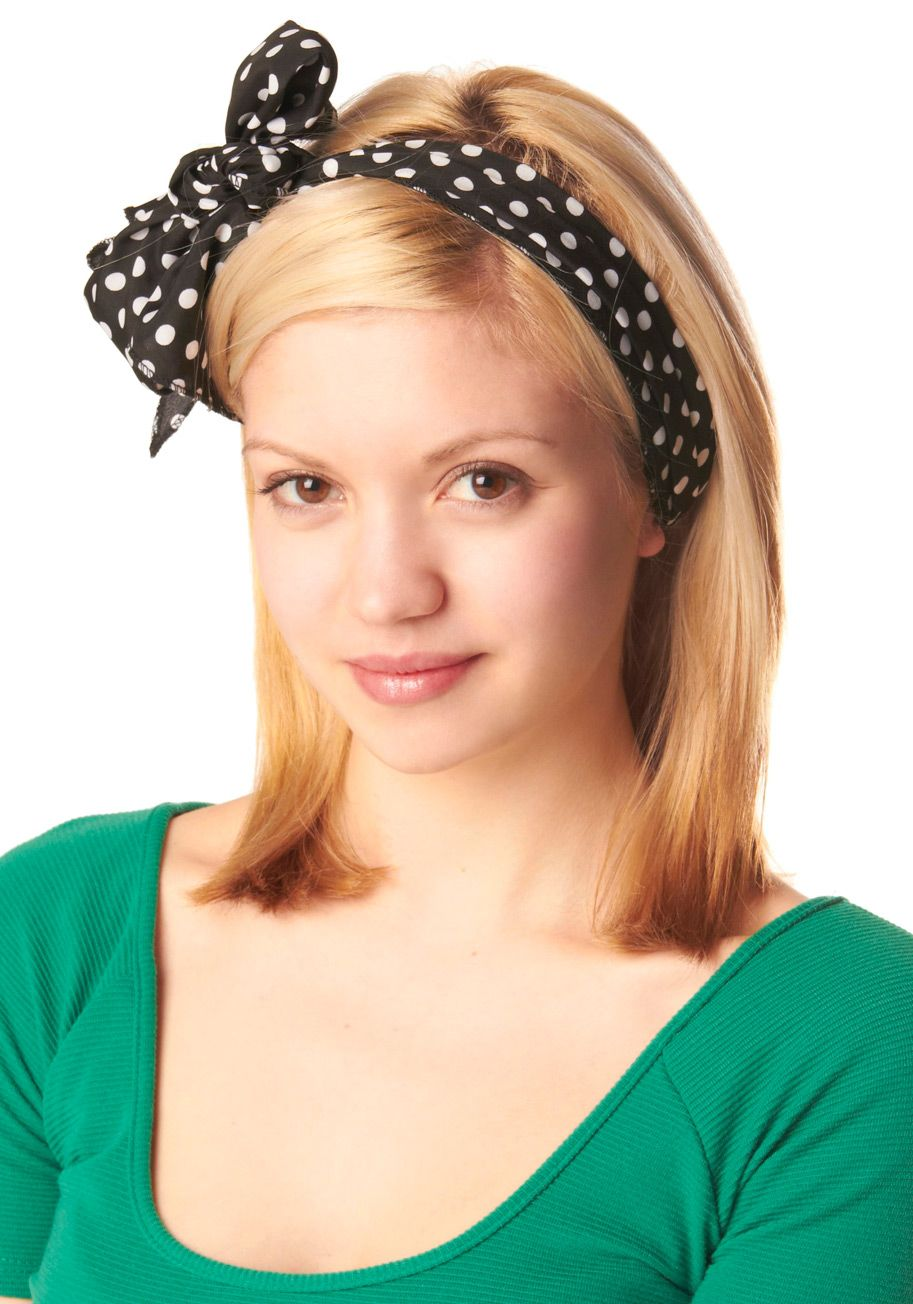 Bow to Stern Scarf in Black Dots