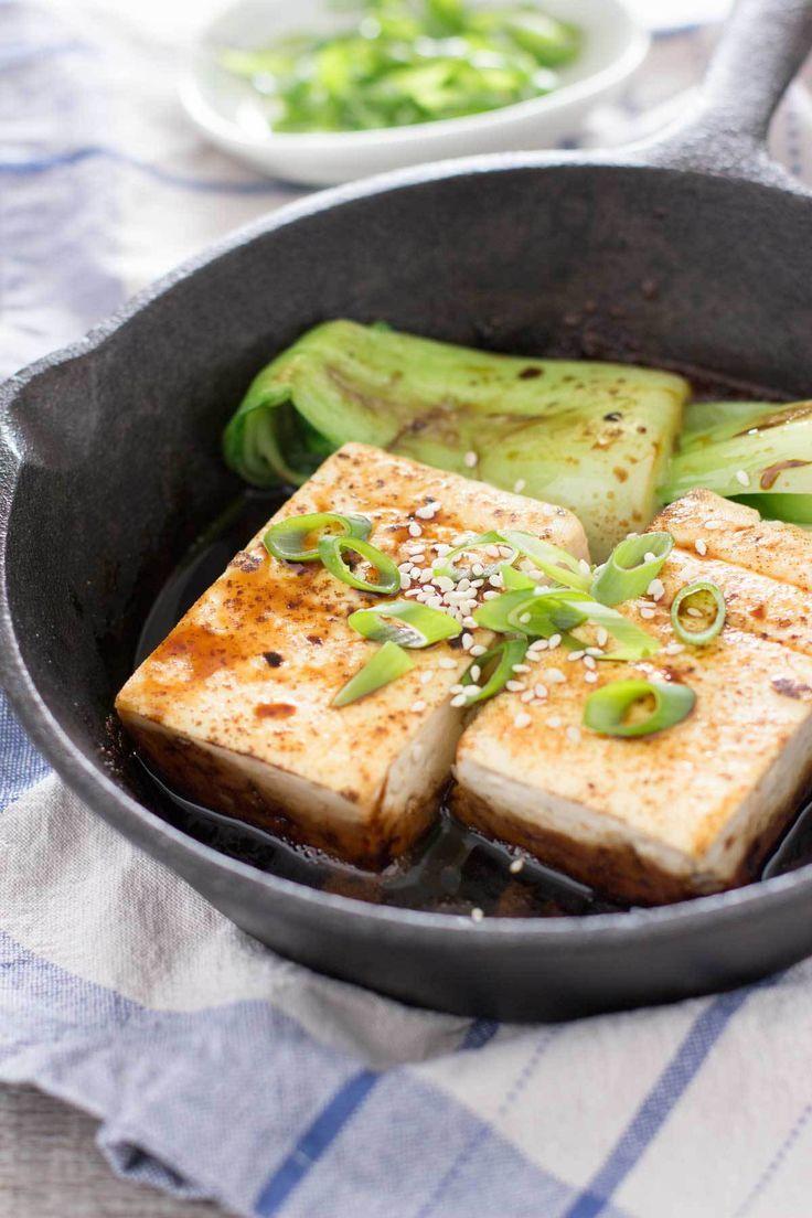 Japanese Tofu Steak Tofu Recipes In 2019 Tofu Steak