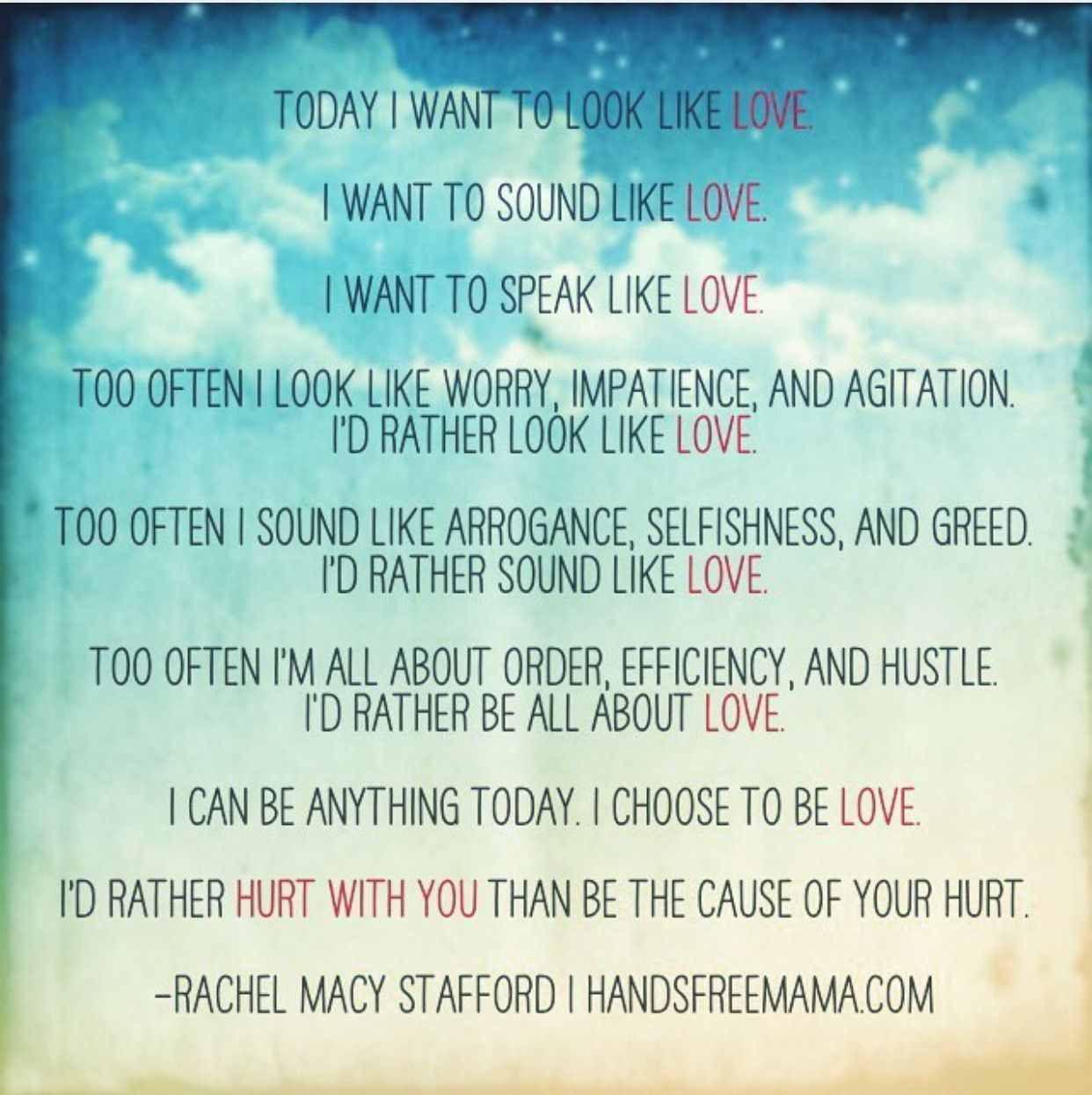 Hands Free, love, today  Only love today, Today quotes, Work quotes