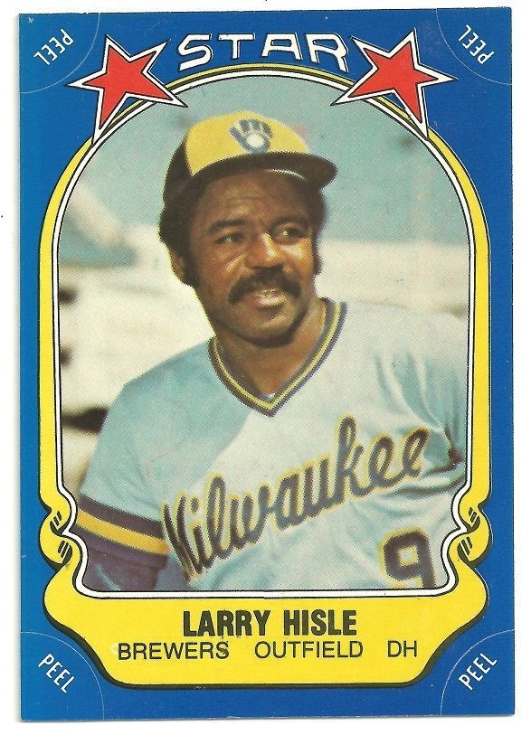 1981 Fleer Star Sticker Baseball Card Larry Hisle