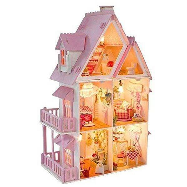 Dream Diy Wooden Dollhouse Kit Wwwteeliesfairygardencom