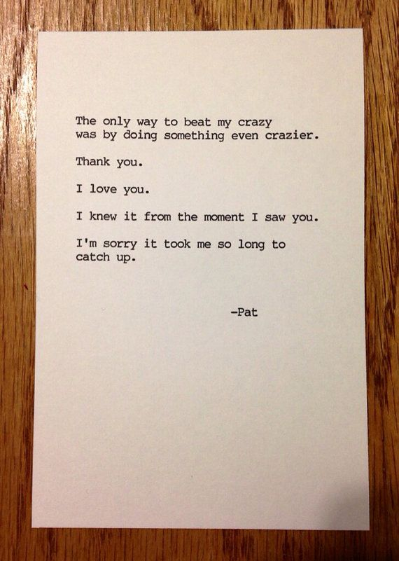 Silver Linings Playbook Typewriter Quote by SabbyWear on