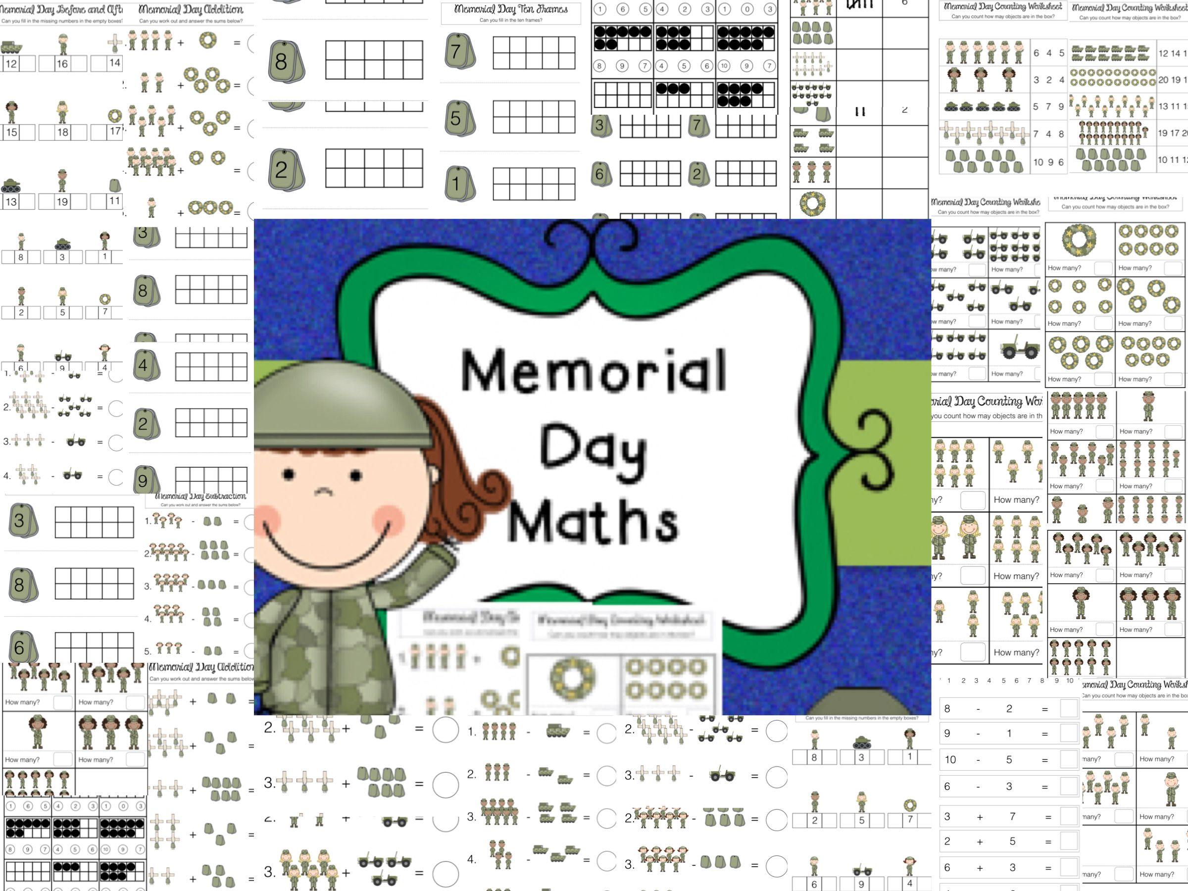 Memorial Day Math Worksheets