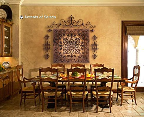 Gorgeous styled tuscan dining room can 39 t wait to use this for Formal dining room wall decor