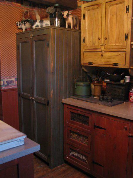 covered refrigerator! | Primitive Kitchens | Pinterest ...