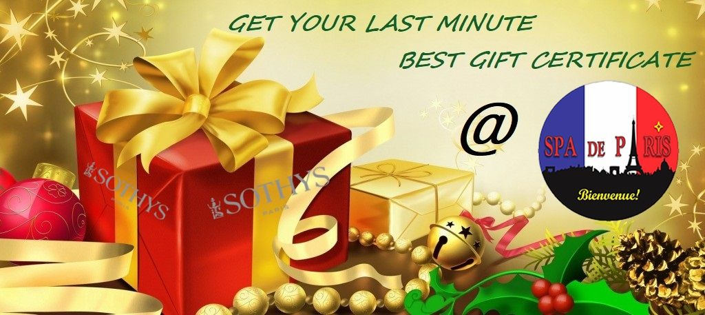 Get your last minute best gift certificate spa de paris