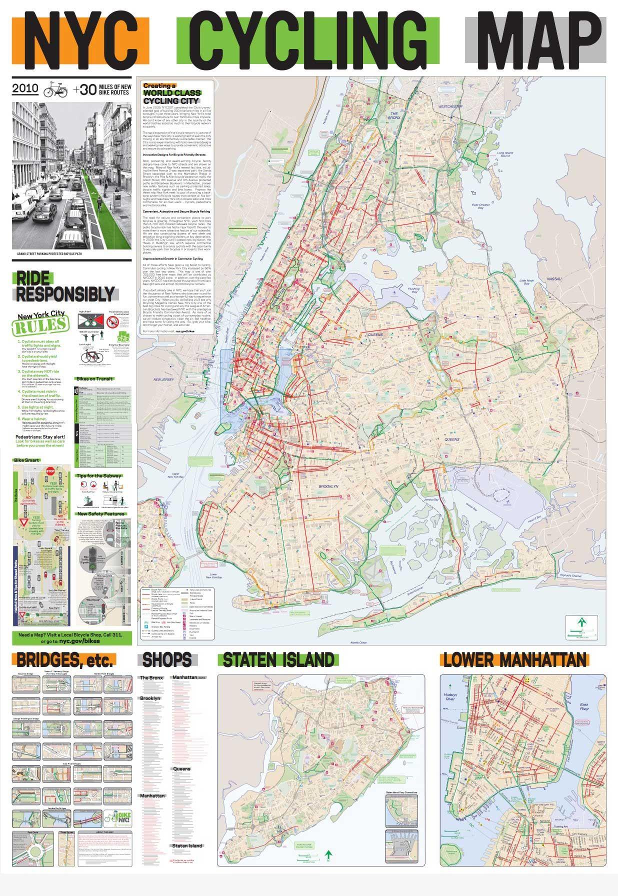 NYC-cycling-map.jpg (1236×1792) | maps | Pinterest