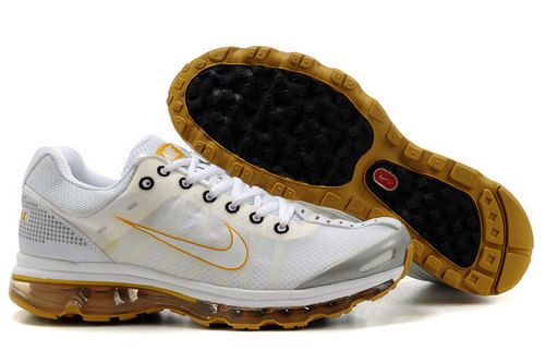 Benefits Nike Air Max 2009 Mens Shoes White Silver Gold
