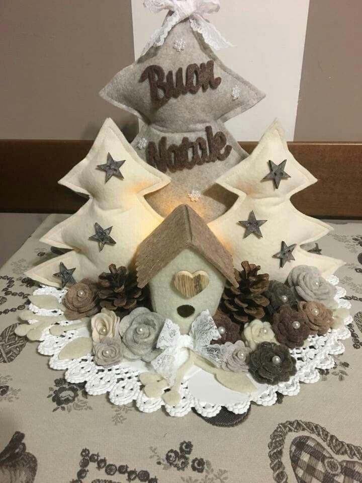Regali Di Natale In Pannolenci.Pin Di Ana Florenza Su Navidad Alberi Di Natale Natale E