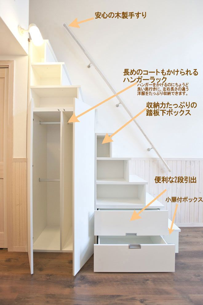 ロフト用家具階段 収納階段キット | 階段【2019】 | House stairs、Loft stairs ...