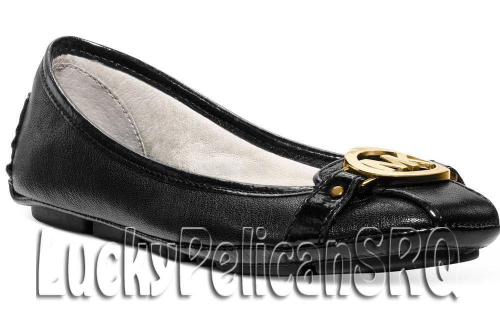 8e9d1fa149ed8 Michael Kors Fulton Moc Flats Black  Gold Buckle M (Medium) NWB  MichaelKors   BalletFlats