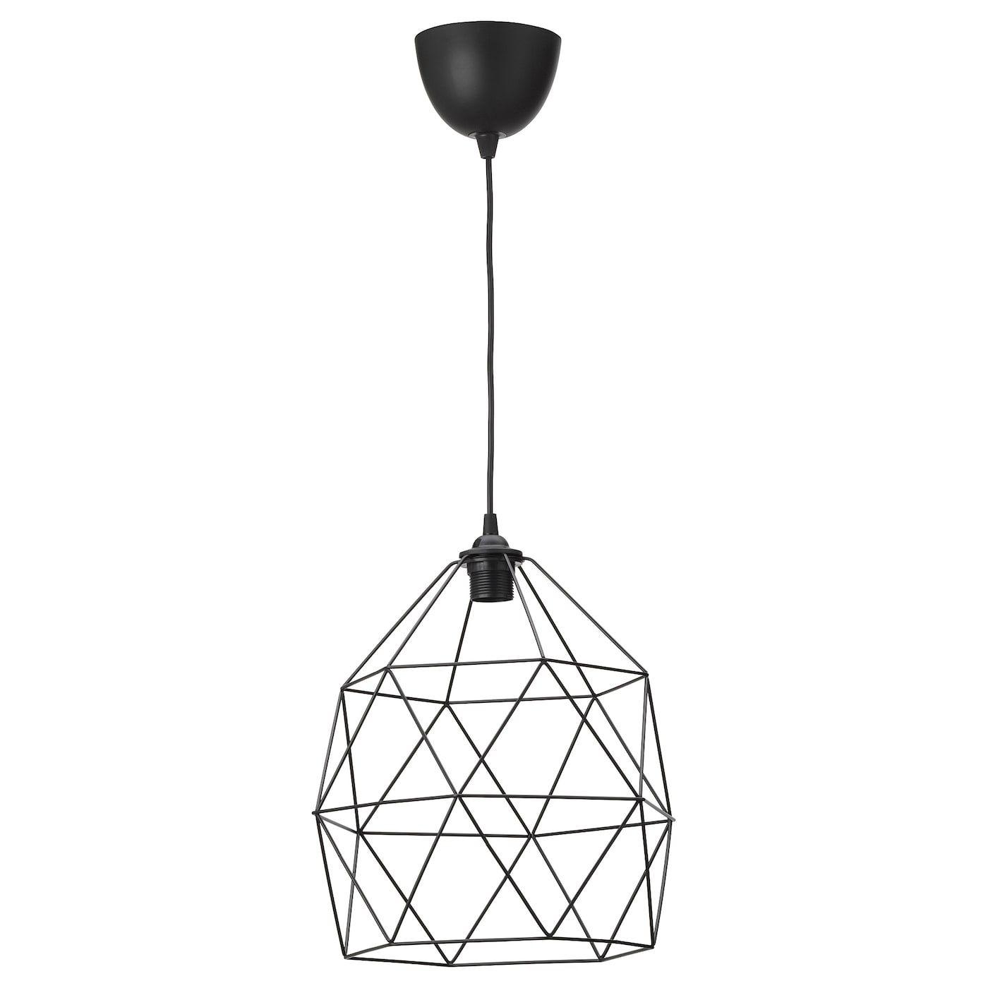 Brunsta Hemma Pendant Lamp Black 12 In 2020 Pendant Lamp Ikea Lamp Ceiling Lights