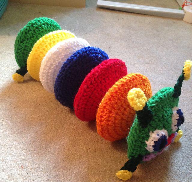 Craft Passions: Caterpillar Rainbow..# free #crochet pattern link ...
