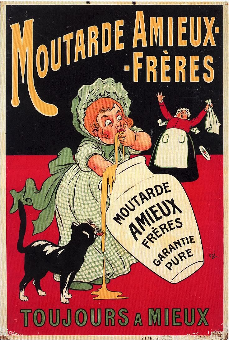 Moutarde Amieux, affiche Litho, 1900 Les affiches