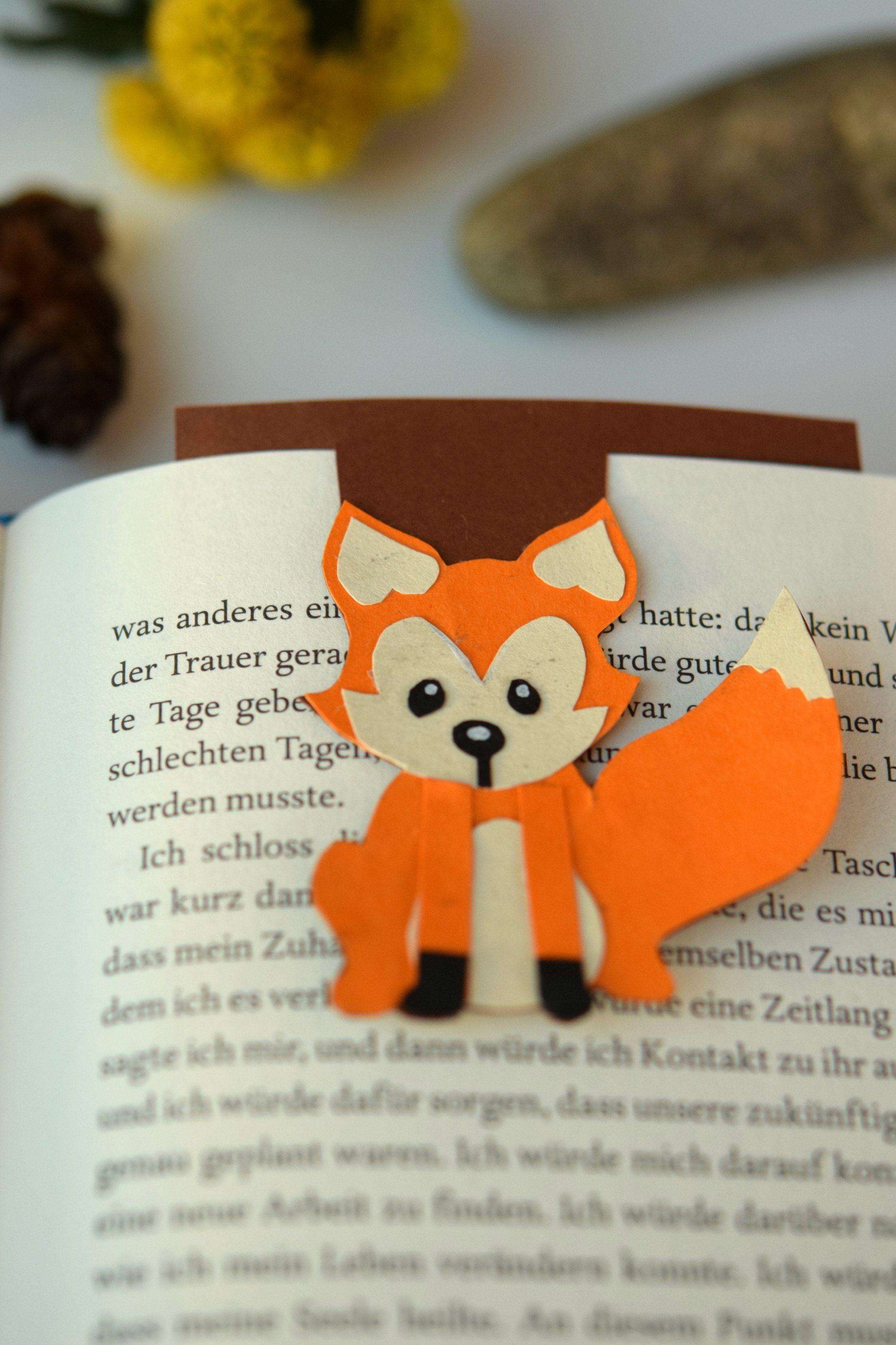 Wundbares Lesezeichen Selbst Gebastelt Diy Bookmark Fuchs Herbst