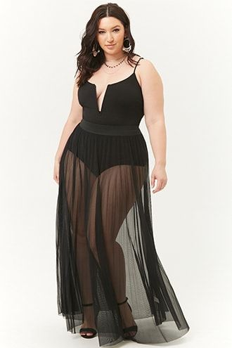 d64fb35d0 Plus Size Sheer Maxi Skirt in 2019 | Products | Sheer maxi skirt ...