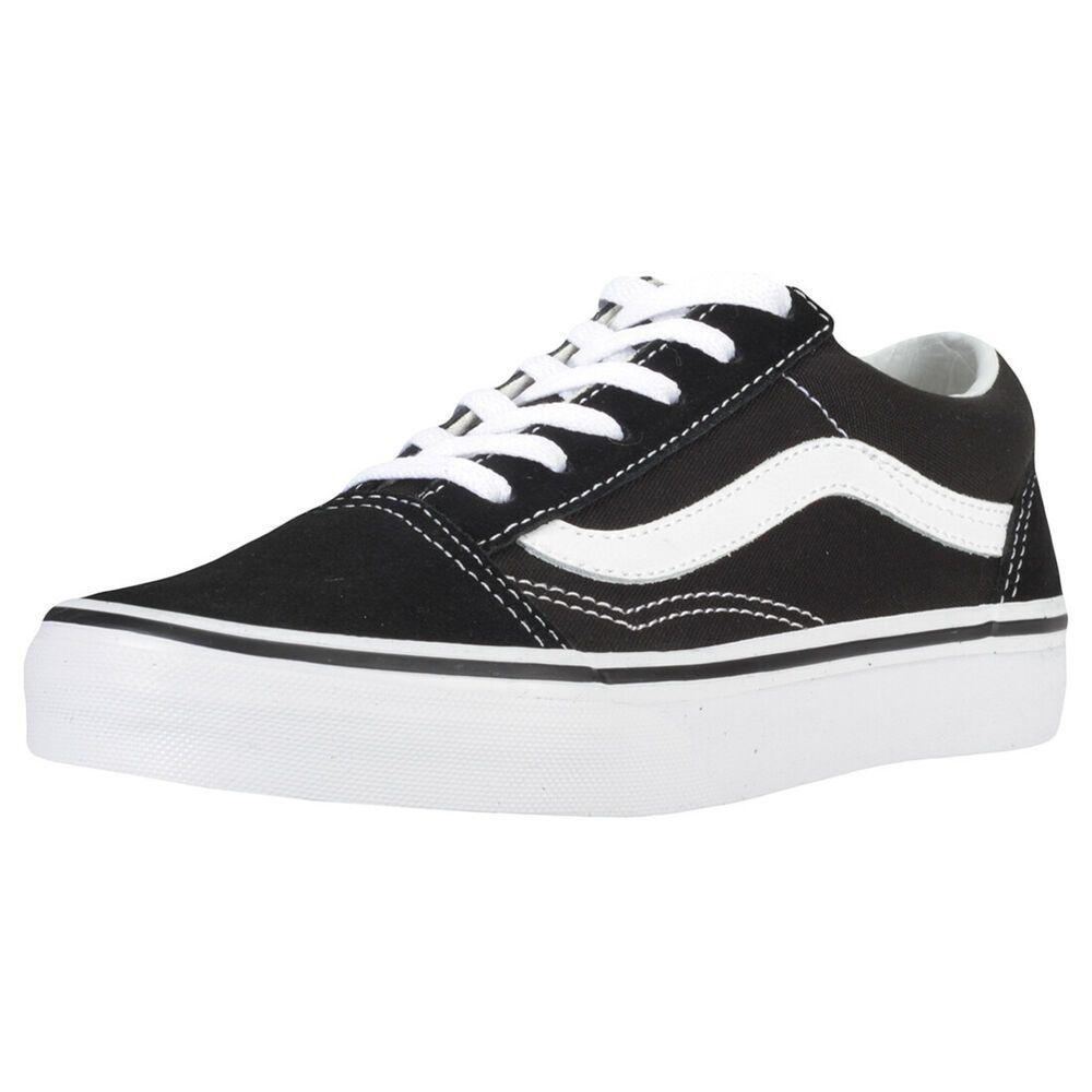 Ebay Sponsored Vans Old Skool Kids Black White Suede Canvas Fashion Trainers 1 Uk Vans Old Skool Trainers Fashion Vans Authentic Black